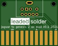 Atari Jaguar to Genesis 2 AV cable adapter