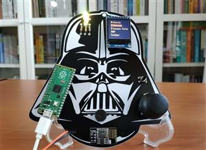 Darth Vader IoT Cryptocurrency Tracker and Display w/ Raspberry Pi Pico
