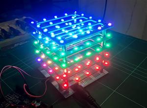 LEDcubeV3 - Expandable 5*5*num_layers RGB LED Cube :P