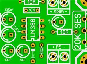 LM386 AMPLIFIER PCB