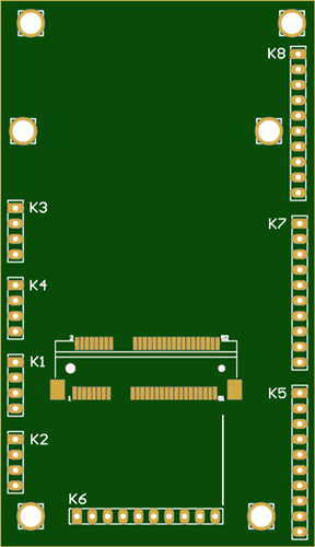 N2 Express mini card connector breakout