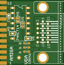 Commodore Amiga RGB VGA adapter V2