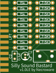 Covox Speech Thing Sound Card for Parallel Port LPT with resistor DAC - Short version