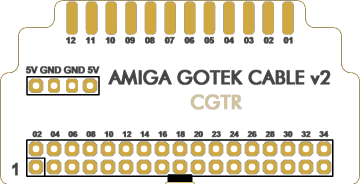 GOTEK  to AMIGA EXTERNAL CONNECTION ADAPTER (IDC CONNECTOR VERSION)