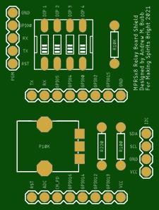 MPRSx8 Relay Board Shield