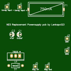 NES replacement PSU PCB