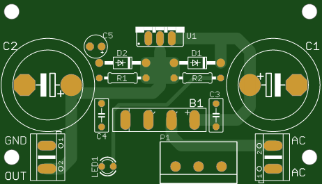 Adjustable Power Supply Based on LM317T