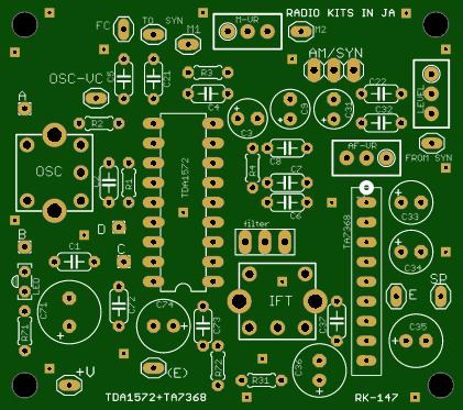 TDA1572 radio.
