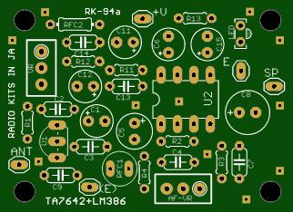 This straight radio ;  ta7642 radio with s meter
