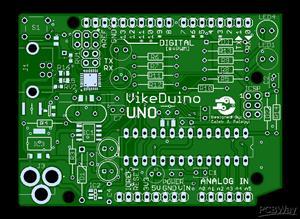 VikeDuino Uno - Through-Hole Arduino Uno for CSU