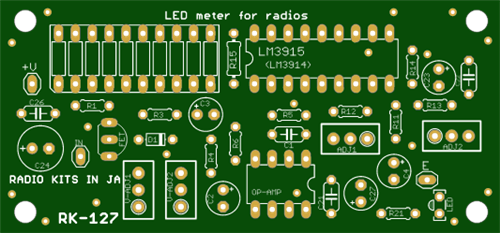 LED meter for homebrue radio .Instead of s meter.