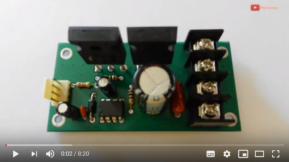 A Powerful 30A DC Motor Driver using Power Mosfets [PWM ... on