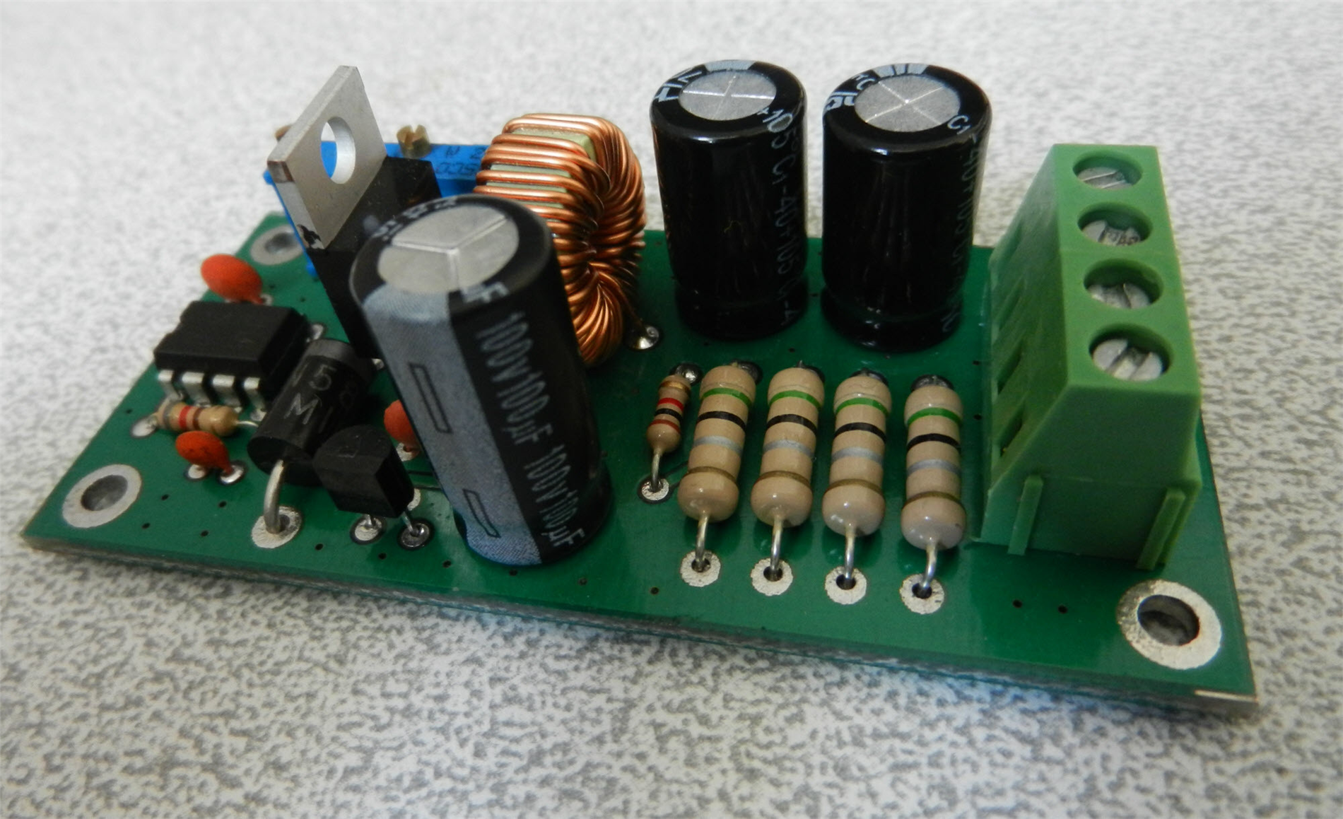 FIG5-How to build an adjustable switching power supply using LM2576 [Buck Converter, CC-CV].JPG
