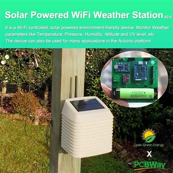 Solar Powered WiFi Weather Station V2 0 - Buy and Sell