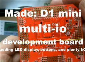 Maxint D1 mini Multi I/O development board