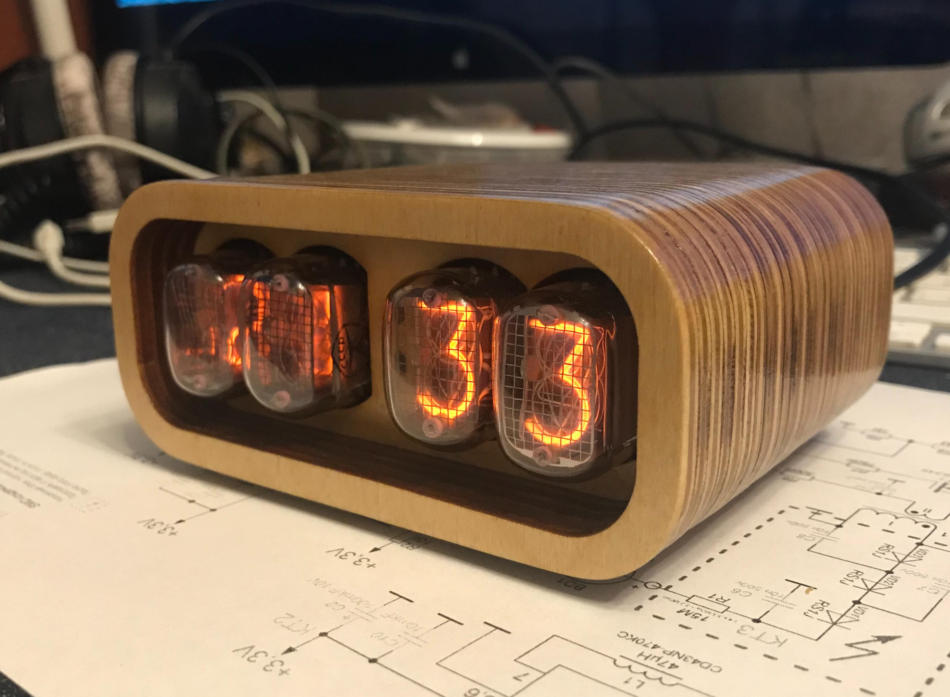 Nixie Clock IN-12 & ESP12(ESP8266) WiFi - Share Project - PCBWay