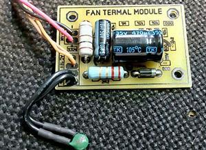Fan speed control for audio amplifier, power supply, etc \ Управление оборотами вентилятора для аудиоусилителя, блока питания и др