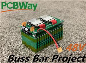cMax 48v 5Ah battery module Project - Busbar pcb