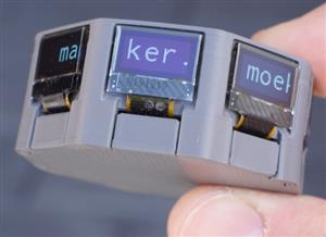 Circoled - Eight tiny OLED displays arranged in a circle