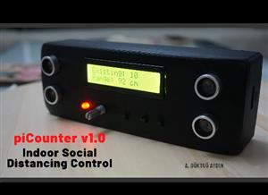 piCounter v1.0 for Indoor Social Distancing Control