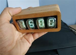 Watch on vacuum luminescent indicators