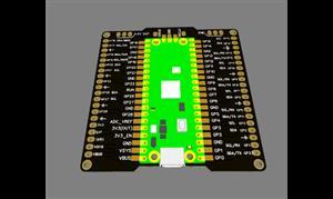 Raspberry Pi Pico Breakout Board (GPIO extension)