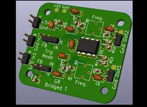 Bridged T Drum Synth Oscillator