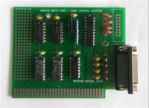 8bit ISA  IBM XT, 286, 386, 486  Analog input card - Game control adapter