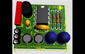 Bistable multivibrator with 555