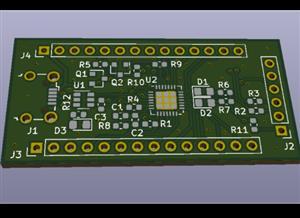 CP2102N-GQFN28-based ESP32-Flash-Adapter
