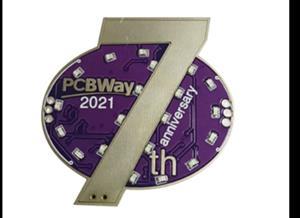 PCBWay 7th Anniversary Badge-2nd Version