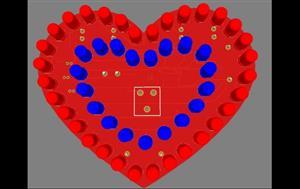 heart shaped pcb multicolor rgb