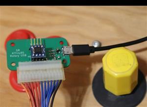MAME Rotary Joystick to USB
