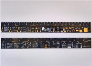 eLab Hackerspace PCB Ruler