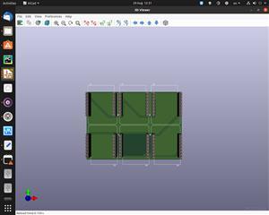 6 Wemos D1 mini boards on 1 PCB