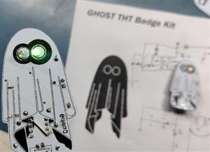 Ghost Badge made from 555 Timer IC
