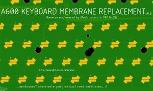 AMIGA 600 KEYBOARD MEMBRANE PCB   2020-09-26   (arananet)