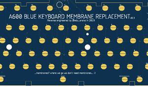 AMIGA 600 KEYBOARD MEMBRANE PCB (arananet)