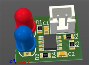 555 Dual LED Flasher (Easy SMD Board Design Using Altium Designer)