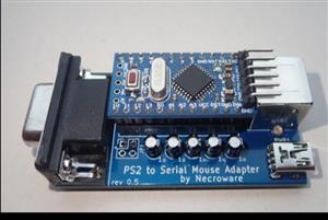 PS/2 SERIAL MOUSE ADAPTER / necroware  (For converting PS/2 mouse to serial mouse)