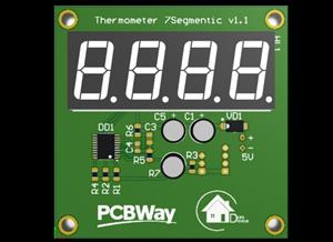 Simple digital thermometer 7Segmentic on STM8 & DS18B20