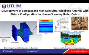 Development of Compact and High Gain Ultra-Wideband Antenna with Bistatic Configuration for Human Scanning Under-Debris