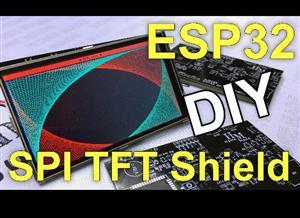 DIY ESP32 SPI TFT shield. Change the display bus.