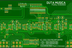 Main board for KC550/KC350 keyboard pre Amplifier mixer audio