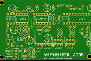 Amplitude Modulator pulse width modulation TL494 with limiter and Low Pass Filter for Anti aliasing