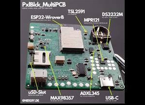 pxlBlck_multiPCB - a multi purpose IOT LED-Matrix board