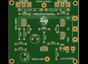 Amplificador de 200w RMS