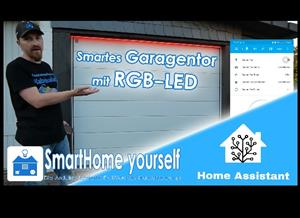 Smart Garage-Door control with animated RGB-LED (with or without Home Assistant)