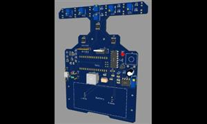 Single PCB Line Follower and Bluetooth Control Robot