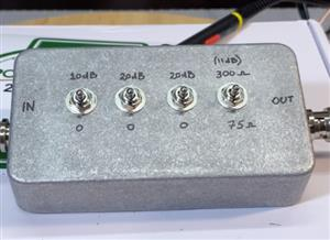 75 to 300 Ohm L-Pad with switched attenuator.